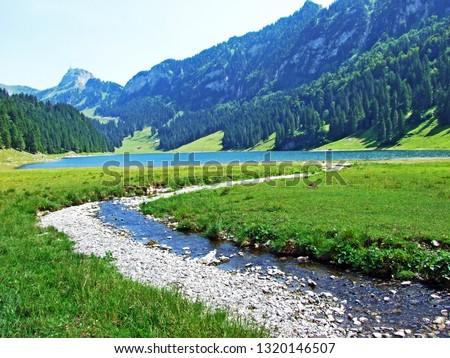 Landscape and environment of Alpstein mountain range and the Appenzellerland region - Canton of Appenzell Innerrhoden, Switzerland #1320146507