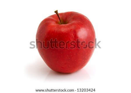 red apple isolated on the white background #13203424