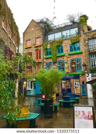 London, London / United Kingdom - January 25 2019: Neal's Yard Covent Garden #1320373511