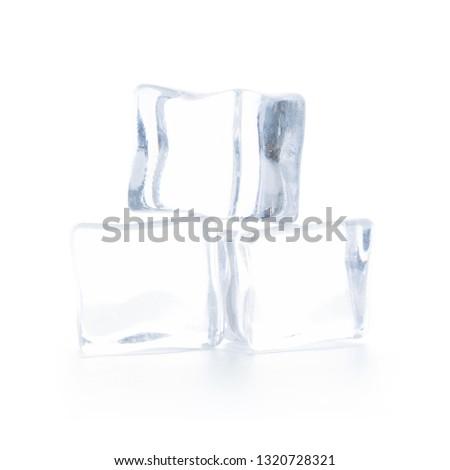 ice cubes isolated on white background #1320728321