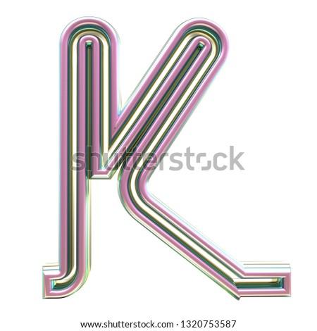 Neon text alphabeth #1320753587