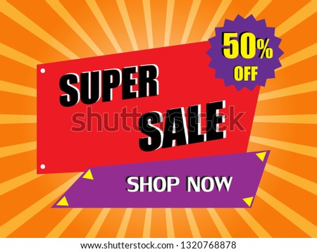 Sale banner vector for template background. tag illustration for advertising business promotion,shopping online,super sale #1320768878