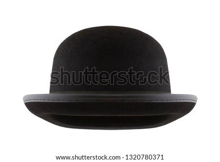 Black bowler hat isolated on white background #1320780371