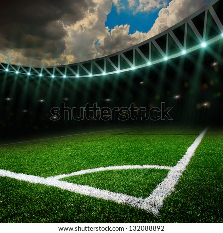 soccer field with the lights #132088892