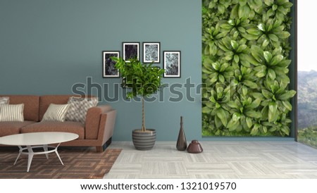 Interior of the living room. 3D illustration #1321019570