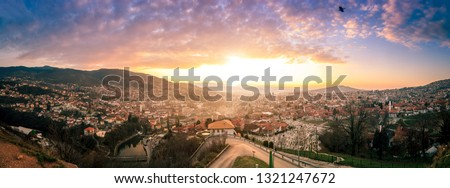 Panorama of Sarajevo. Panorama of Sarajevo shoot from  Yellow Fortress #1321247672