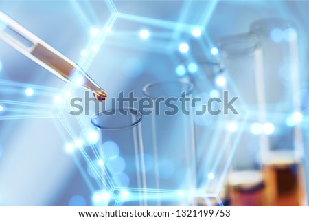 Oil test analysis beaker bio bio diesel biotechnology #1321499753