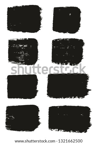 Paint Brush Medium Lines High Detail Abstract Vector Background Set 53 #1321662500