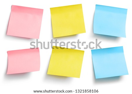 Colorful stickers, isolated on white background #1321858106