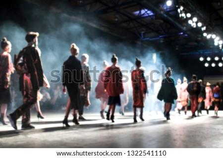 Blurred on purpose Fashion Show, Catwalk, Runway Event themed photo. Fashion week.