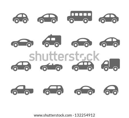 car icons Royalty-Free Stock Photo #132254912