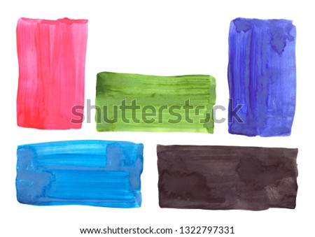Hand drawn watercolor shape for your design. Creative background, hand made decoration  #1322797331