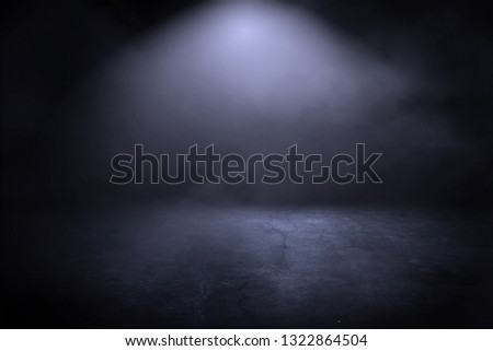 Texture dark concentrate floor with mist or fog #1322864504