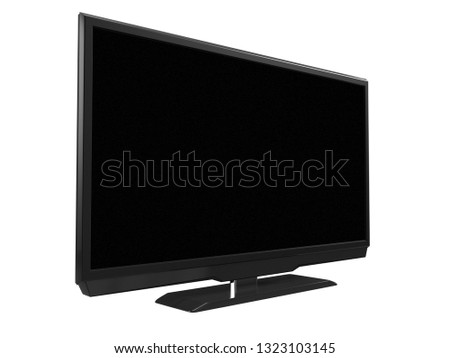 LED LCD tv isolated on white background. 3D rendering #1323103145