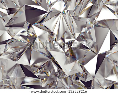 3d abstract crystal clear background texture