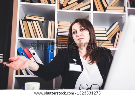 business woman working in the office desk #1323531275