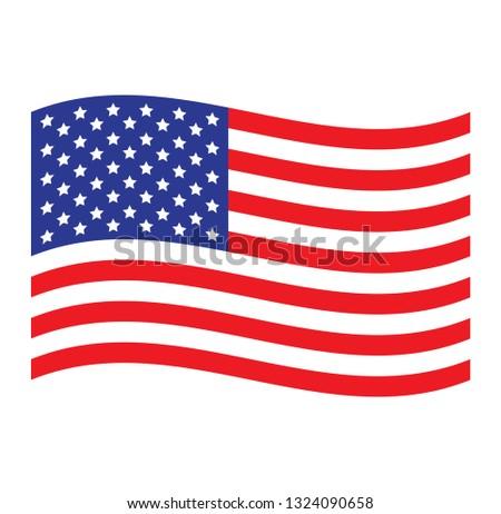 USA flag. Simple vector American flag #1324090658