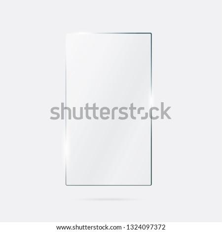Vector of rectangle glass frame. #1324097372