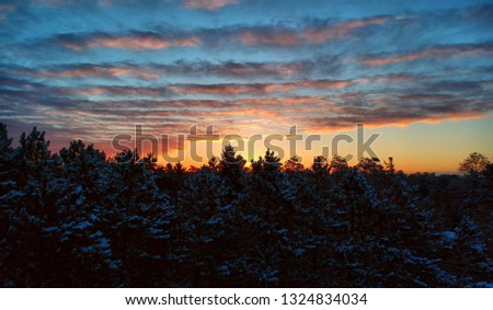 A winters day sunrise #1324834034
