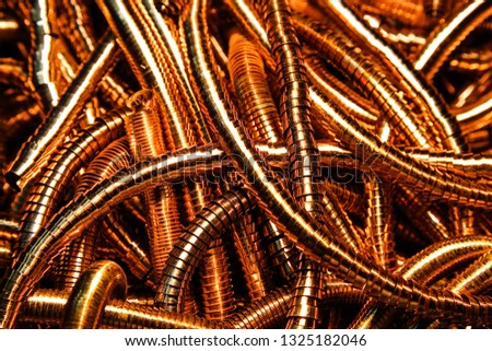 Metal background metallic background metal shavings recycled materials #1325182046