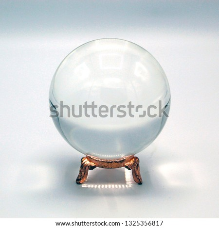 Quartz Crystal Ball on Golden Stand