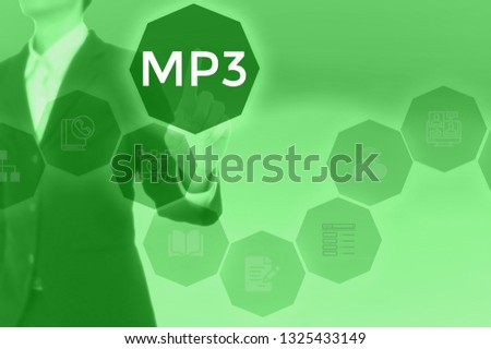 MP3 - technology and business concept