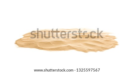 Heap of dry beach sand on white background #1325597567