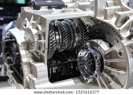 6 speed robotic gearbox. internals, gears and friction clutches #1325616377