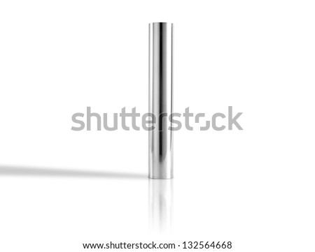 metal pipes isolated on white