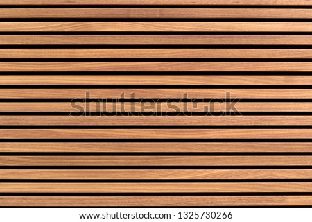 Wooden slats. Natural wood lath line arrange pattern texture background Royalty-Free Stock Photo #1325730266