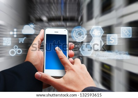 icon control the system from smart phone #132593615