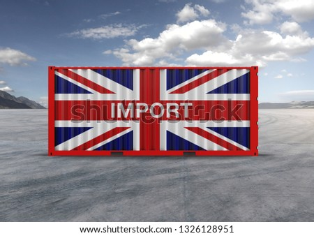 A container, for export and import in isolated background, 3D rendering, a key element in globalization, reduces freight costs and speeds up logistics. Used by the 10 largest importers and exporters. #1326128951