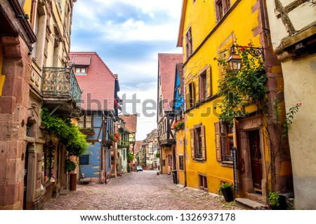 Historical city of Riquewihr, France  #1326937178