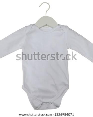 Empty baby bodysuit for editing #1326984071