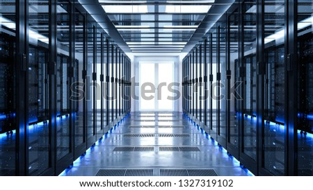 Backup cloud data service center. 3D rendering #1327319102