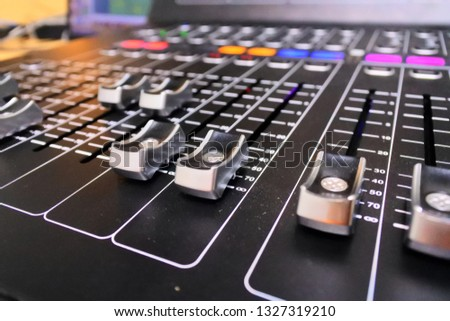 Audio console mixer #1327319210