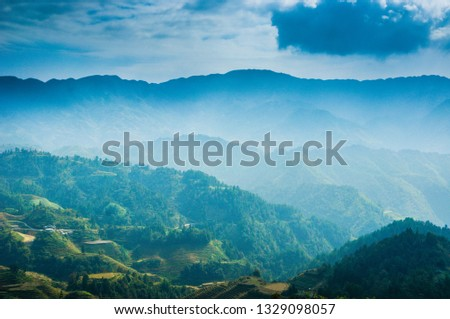 Landscape of mountains #1329098057