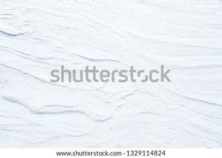 Fresh snow background texture. Winter background with snowflakes and snow mounds. Snow lumps. #1329114824