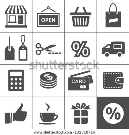 Shopping Icon Set. Simplus series #132918716