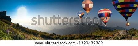 Colorful  Air Balloons Flying  #1329639362