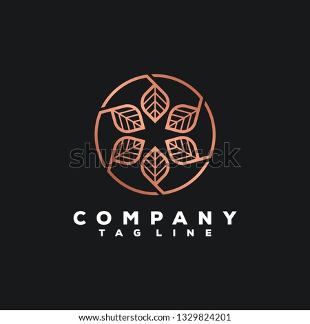 luxury leaf logo design #1329824201