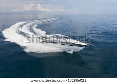 motor boat Royalty-Free Stock Photo #132986021