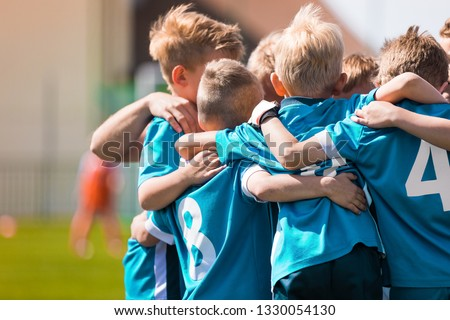 Children Team Sport. Kids Play Sports Game. Children Sporty Team United Ready to Play Game. Youth Sports For Children. Boys in Sports Jersey Red Shirts. Young Boys in Soccer Sportswear #1330054130