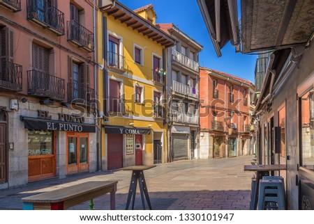 LEON, SPAIN - JUN 12, 2017: Street Pozo #1330101947