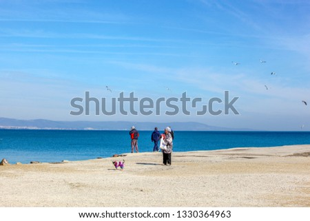 Pomorie, Bulgaria - March 02, 2019: Spring Walk Through The Central Part Of The City. #1330364963