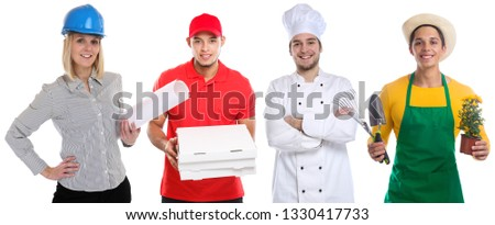 Education profession young people professions business career isolated on a white background #1330417733