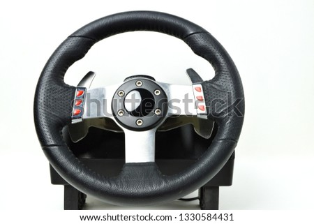 A racing wheel for the racing video games and racing simulators #1330584431