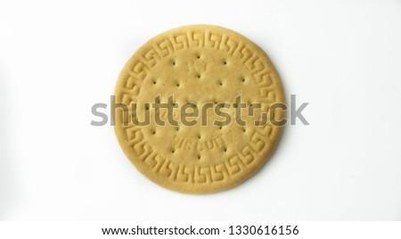 Rich Tea biscuit on white background. #1330616156