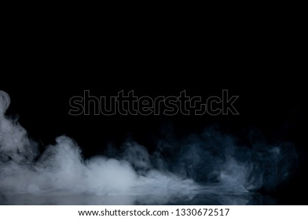 Abstract Smoke on black Background #1330672517