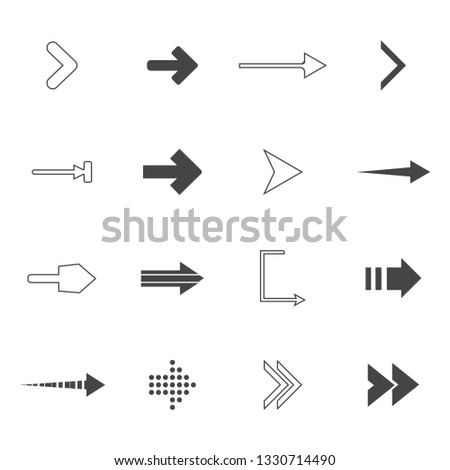 direction arrows icons set. road signs icons set. Vector illustration #1330714490